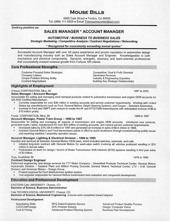 car resume example automotive manager sample sales4 best format for job interview Resume Automotive Manager Resume Example