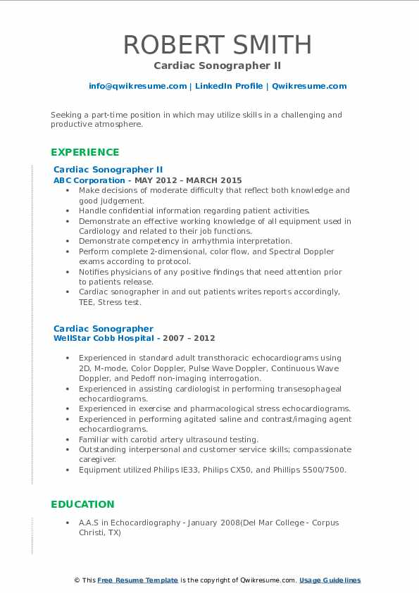 cardiac sonographer resume samples qwikresume objective pdf duties of office manager for Resume Cardiac Sonographer Resume Objective