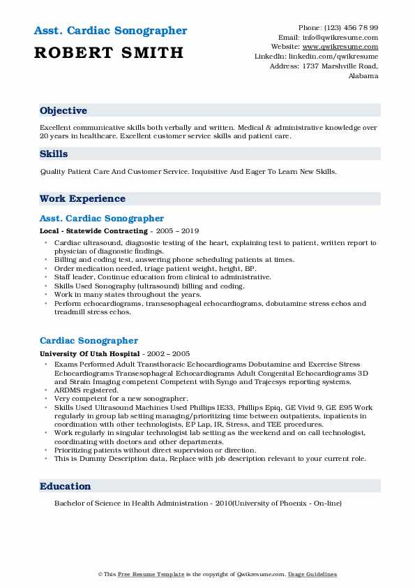 cardiac sonographer resume samples qwikresume objective pdf motocross race examples Resume Cardiac Sonographer Resume Objective