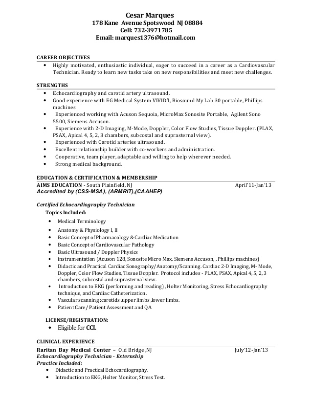 cardiovascular tech resume cardiac sonographer objective motocross race examples nice Resume Cardiac Sonographer Resume Objective