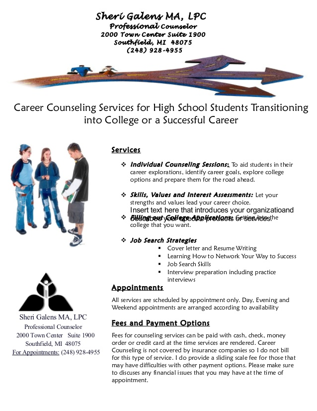 career counseling office flyer for students and resume writing business process Resume Career Counseling And Resume Writing