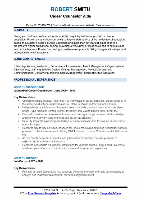 career counselor resume samples qwikresume counseling and writing pdf appropriate Resume Career Counseling And Resume Writing