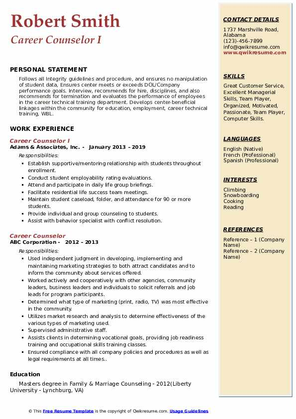 career counselor resume samples qwikresume counseling and writing pdf devops manager Resume Career Counseling And Resume Writing