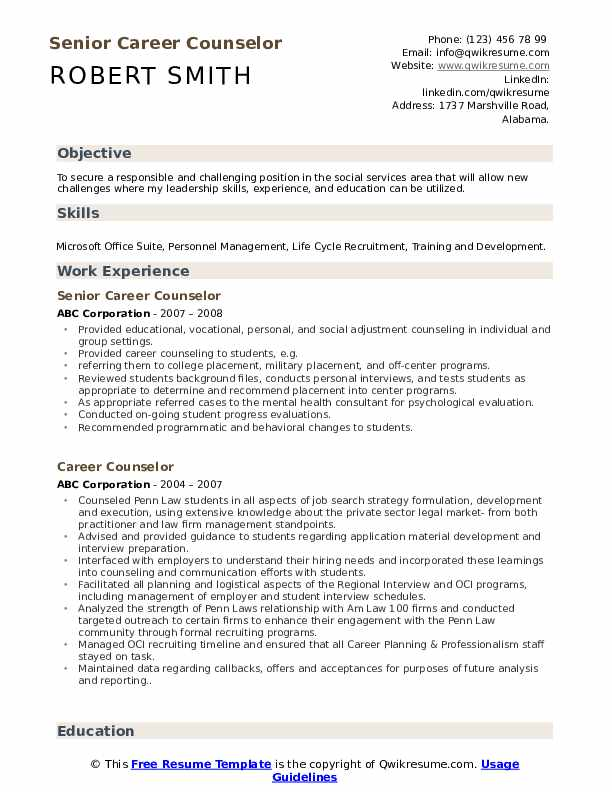 career counselor resume samples qwikresume counseling and writing pdf physician sample Resume Career Counseling And Resume Writing