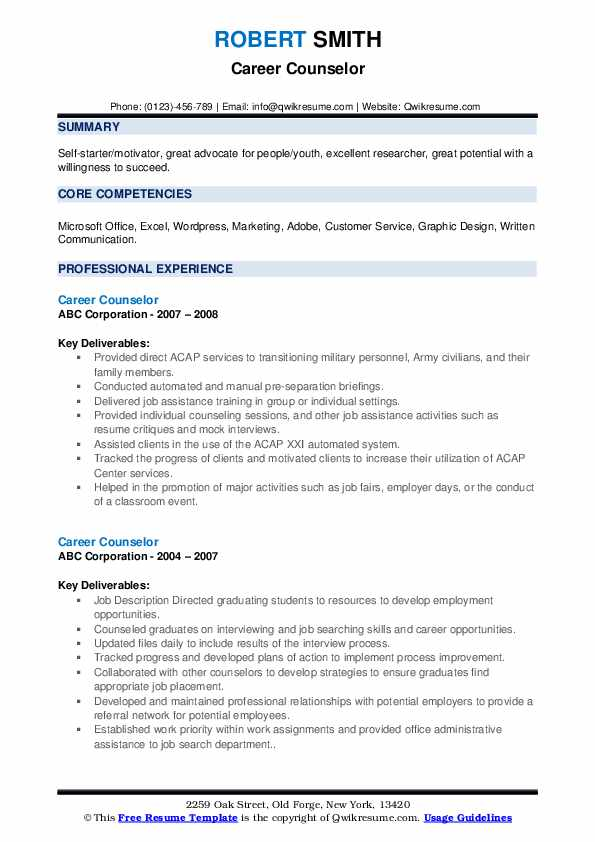 career counselor resume samples qwikresume counseling and writing pdf simple cover letter Resume Career Counseling And Resume Writing