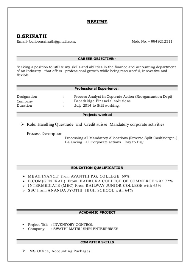 career objective for resume mba finance financeviewer college experience with 1year Resume Career Objective For Resume For Mba College