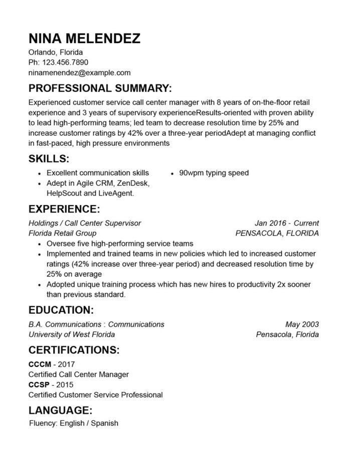 career resume template customer service examples objective good summary for alarm sports Resume Word Cookies Macadamia Resume