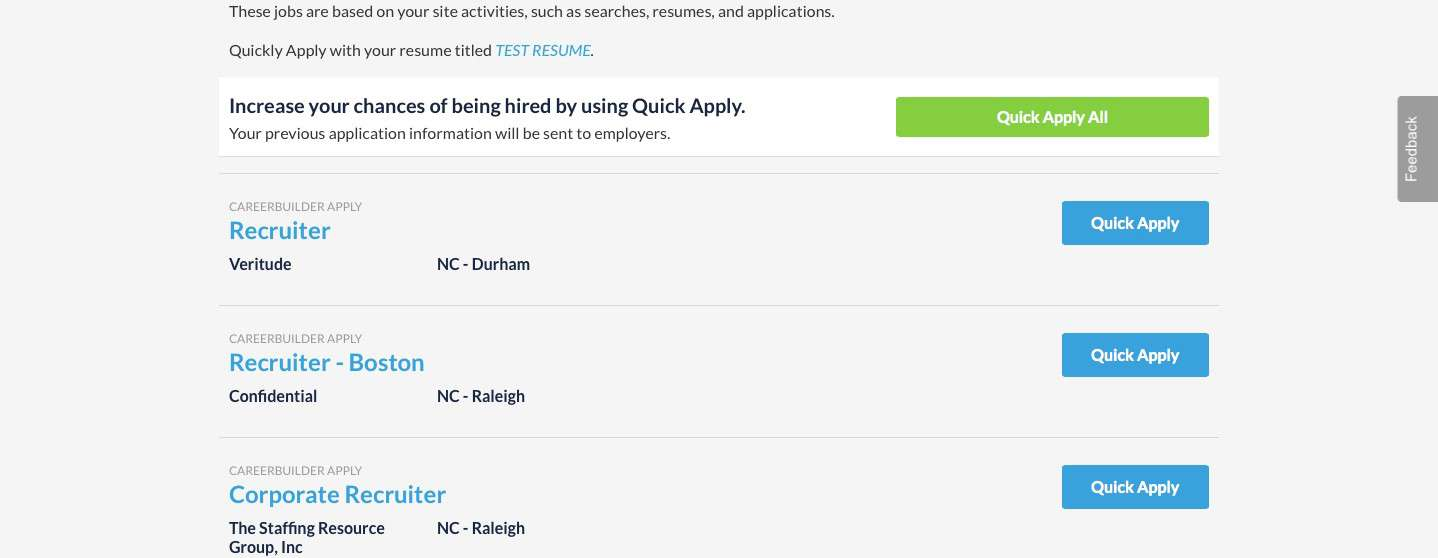 careerbuilder unveils quick apply all feature to simplify application process resume Resume Careerbuilder Resume Upload