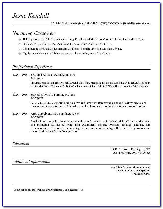 caregiver resume template vincegray2014 for home slick business specialist software Resume Resume For Home Caregiver