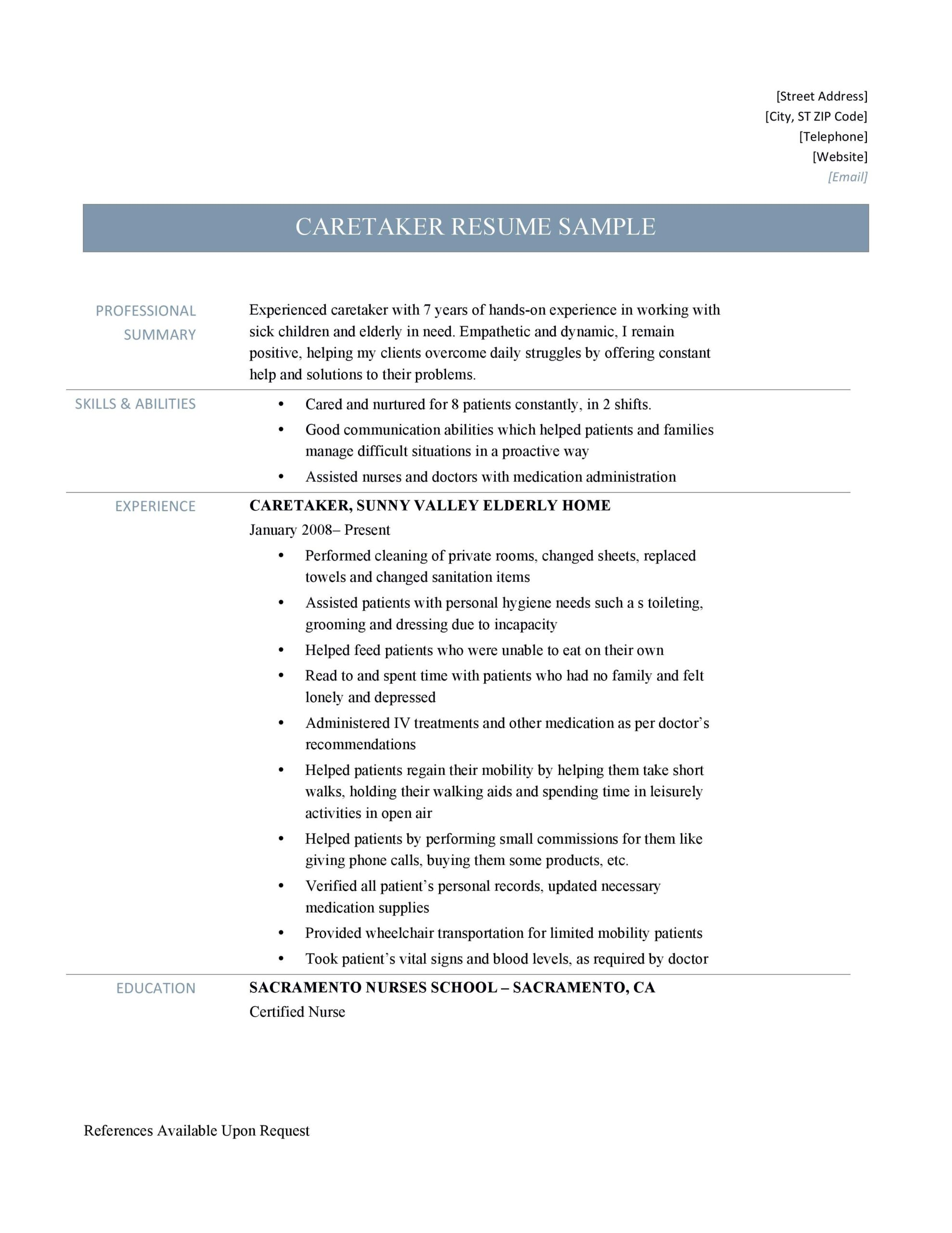 caretaker resume samples tips and template by builders medium sample jatx6eerb 9sudde Resume Caretaker Resume Sample