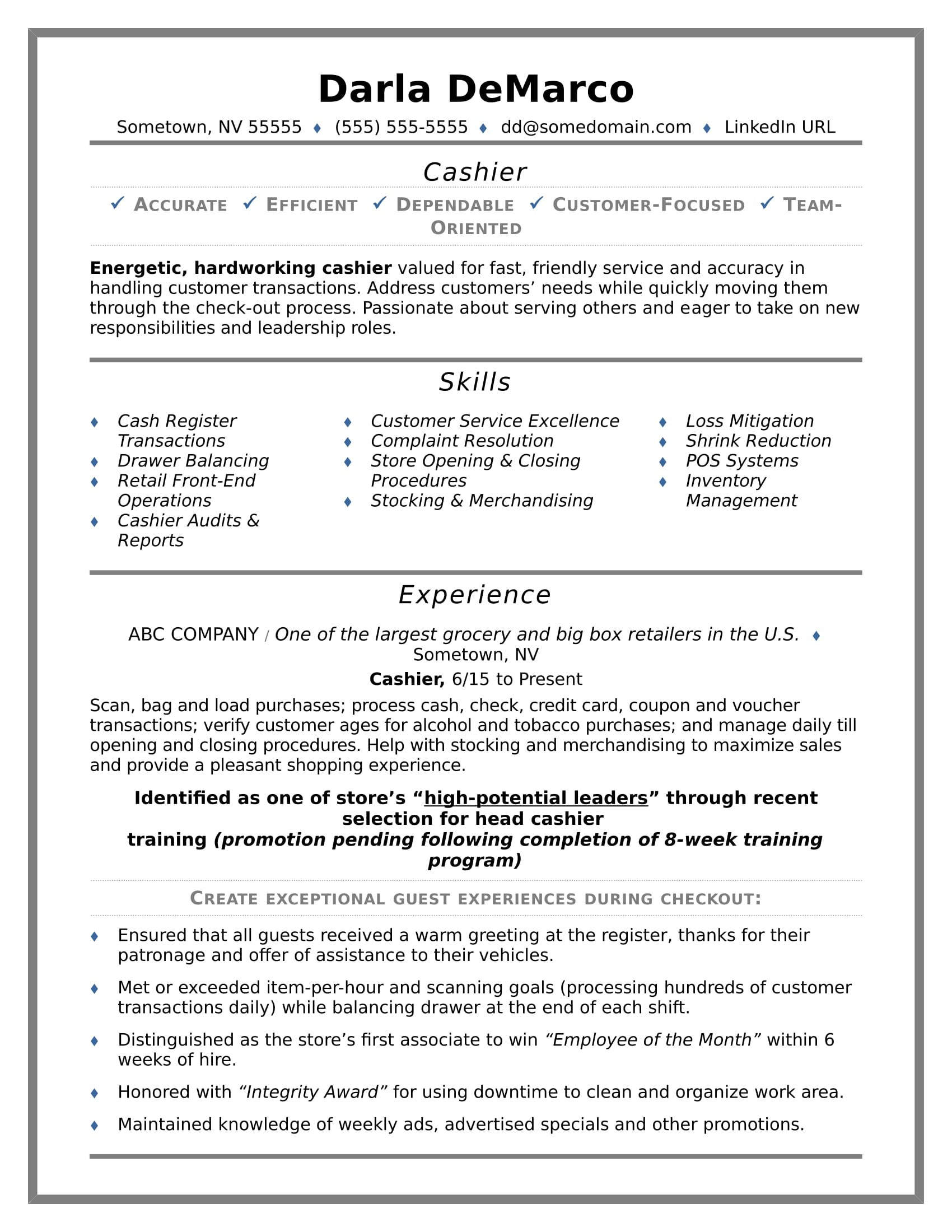 cashier resume sample monster high school paid builder teacher examples nanny job Resume High School Cashier Resume