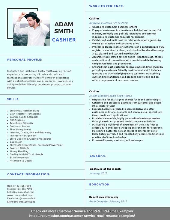 cashier resume samples and tips pdf resumes bot another name for on example Resume Another Name For Cashier On Resume