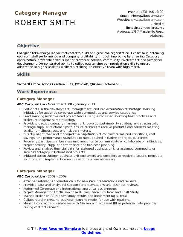 category manager resume samples qwikresume categories skills pdf career objective Resume Resume Categories Skills