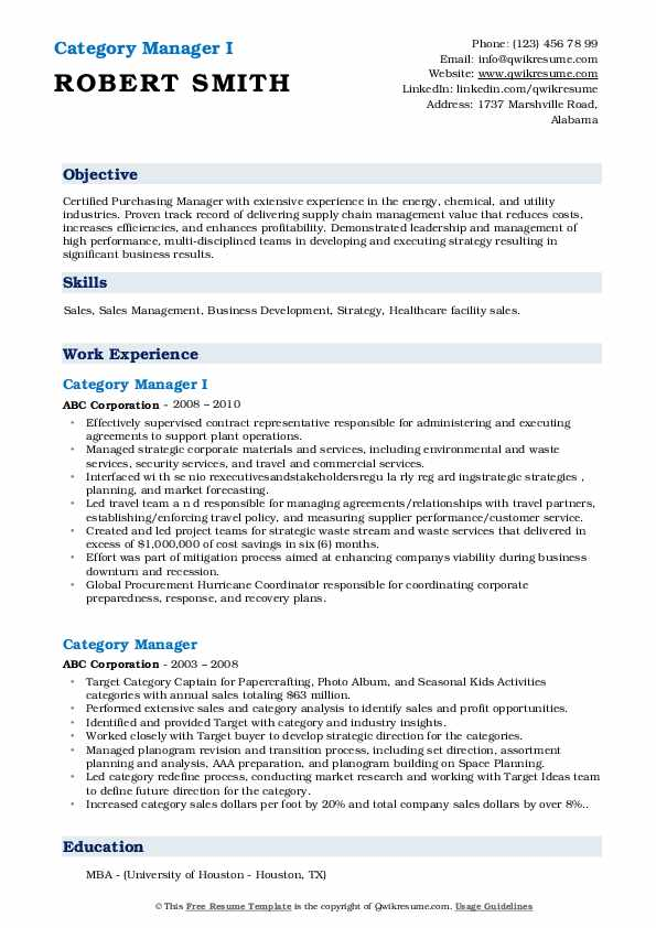 category manager resume samples qwikresume categories skills pdf strategic planning Resume Resume Categories Skills