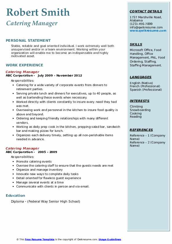 catering manager resume samples qwikresume pdf cnc machinist indeed demonstrated Resume Catering Manager Resume