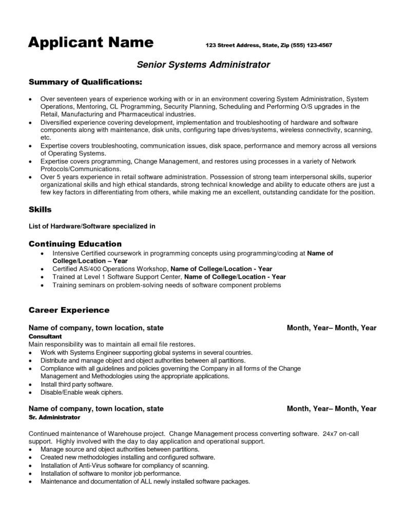 ccna sample resume incident management qualifications for ginny zeyer cover resumé linux Resume Incident And Problem Management Resume