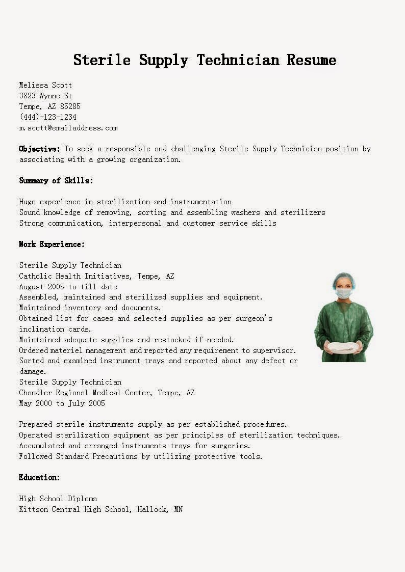 central supply technician resume sample january sterile processing supervisor law Resume Sterile Processing Supervisor Resume
