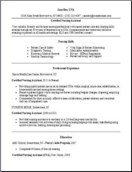 certified nursing assistant resume examples samples free edit with word cover letter Resume Certified Nursing Assistant Resume Cover Letter