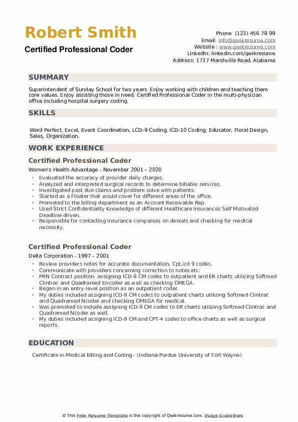 certified professional coder resume samples qwikresume sample pdf environmental chemist Resume Certified Professional Coder Resume Sample