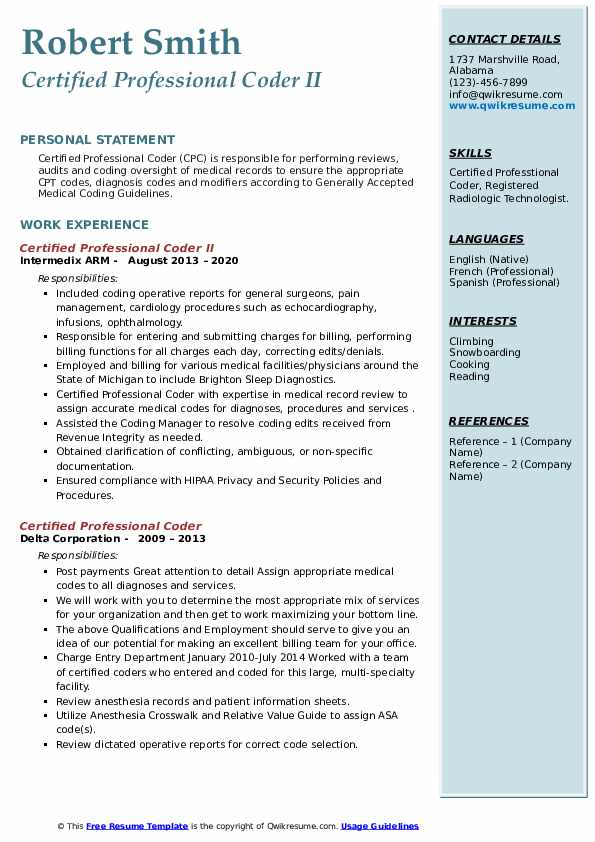 certified professional coder resume samples qwikresume sample pdf microsoft office word Resume Certified Professional Coder Resume Sample