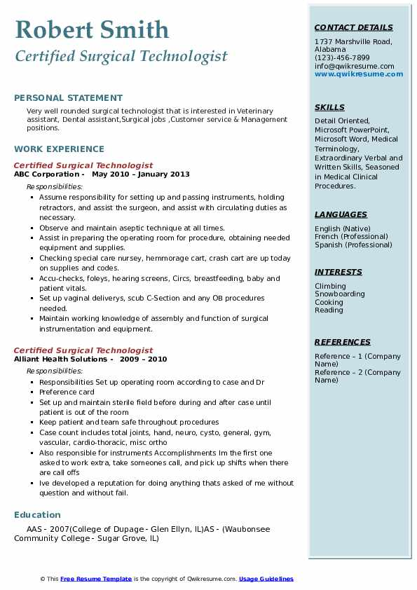 certified surgical technologist resume samples qwikresume objectives pdf business cards Resume Certified Surgical Technologist Resume Objectives