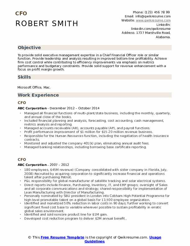 cfo resume samples qwikresume chief accounting officer pdf planet fitness military job Resume Chief Accounting Officer Resume