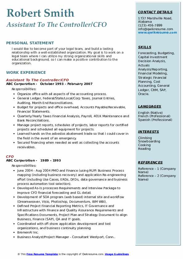 cfo resume samples qwikresume chief accounting officer pdf professional memberships on Resume Chief Accounting Officer Resume