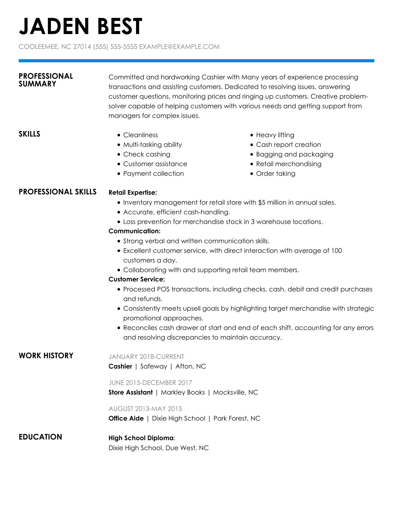 check out the top retail resume examples by myperfectresume attributes and skills cashier Resume Resume Attributes And Skills Examples