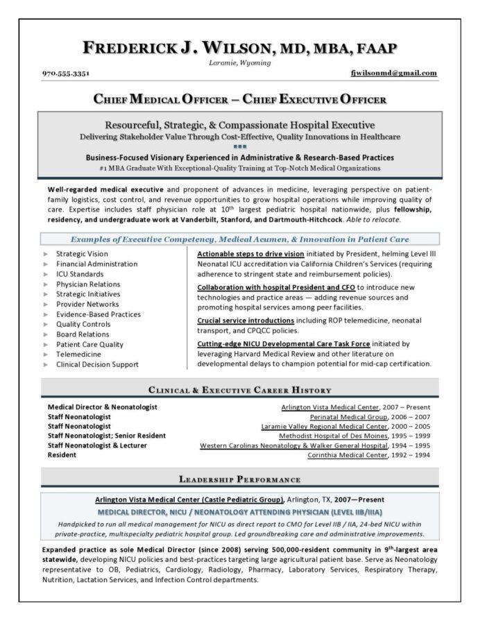 chief medical officer resume sample executive writer template healthcare district manager Resume Healthcare Executive Resume