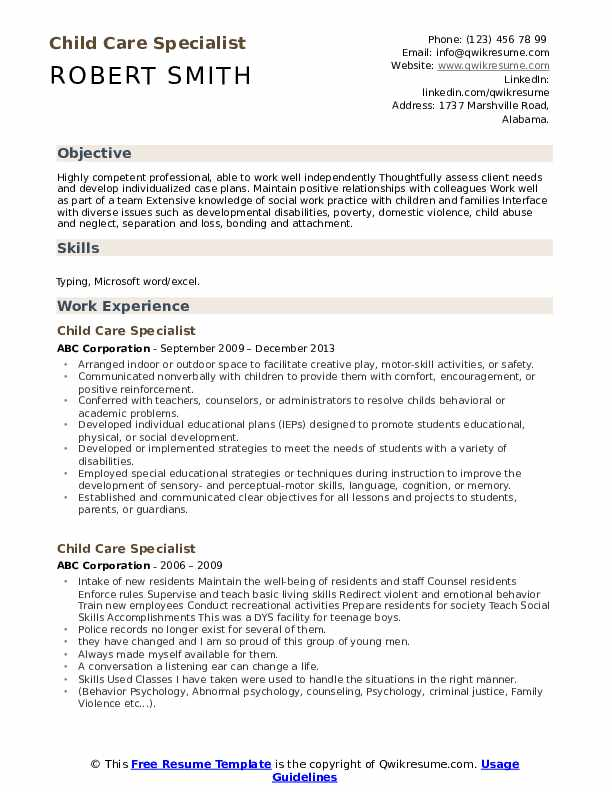 child care specialist resume samples qwikresume professional pdf pfizer chief of staff Resume Professional Child Care Resume
