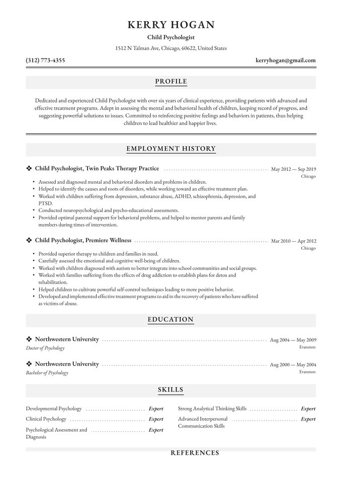 child psychologist resume examples writing tips free guide io psychology cashier Resume Psychology Resume Examples