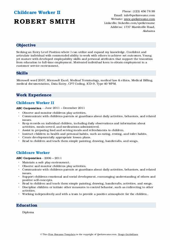childcare worker resume samples qwikresume child care objective pdf inventory associate Resume Child Care Worker Resume Objective
