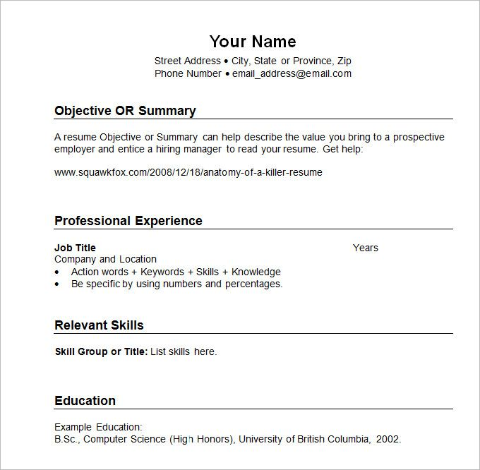 chronological resume template best font for non profit ceo sample graduate school Resume Chronological Resume Template 2020