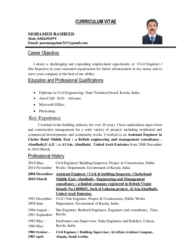 civil engineer inspector objective for resume engineering cna experience administrative Resume Objective For Resume Civil Engineering