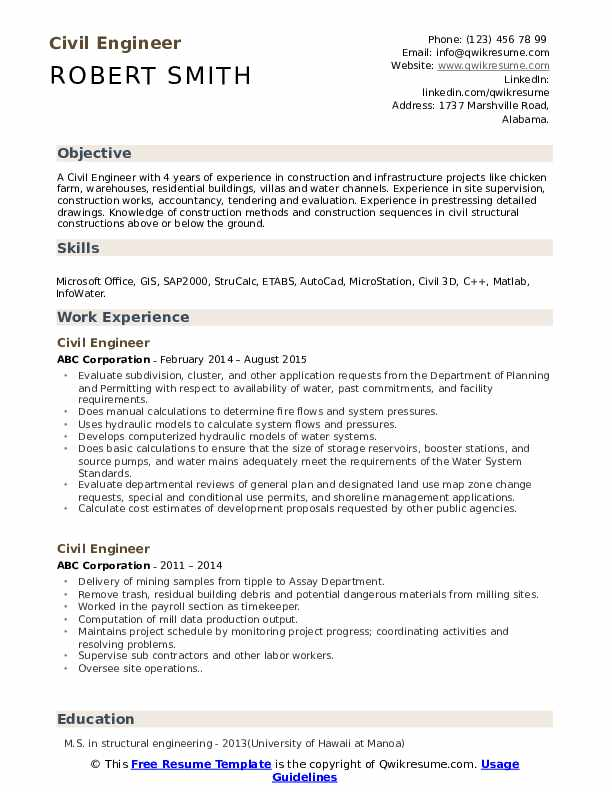civil engineer resume samples qwikresume objective for engineering pdf college graduate Resume Objective For Resume Civil Engineering