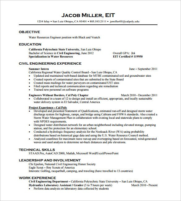 civil engineer resume templates pdf free premium objective for engineering basic set up Resume Objective For Resume Civil Engineering