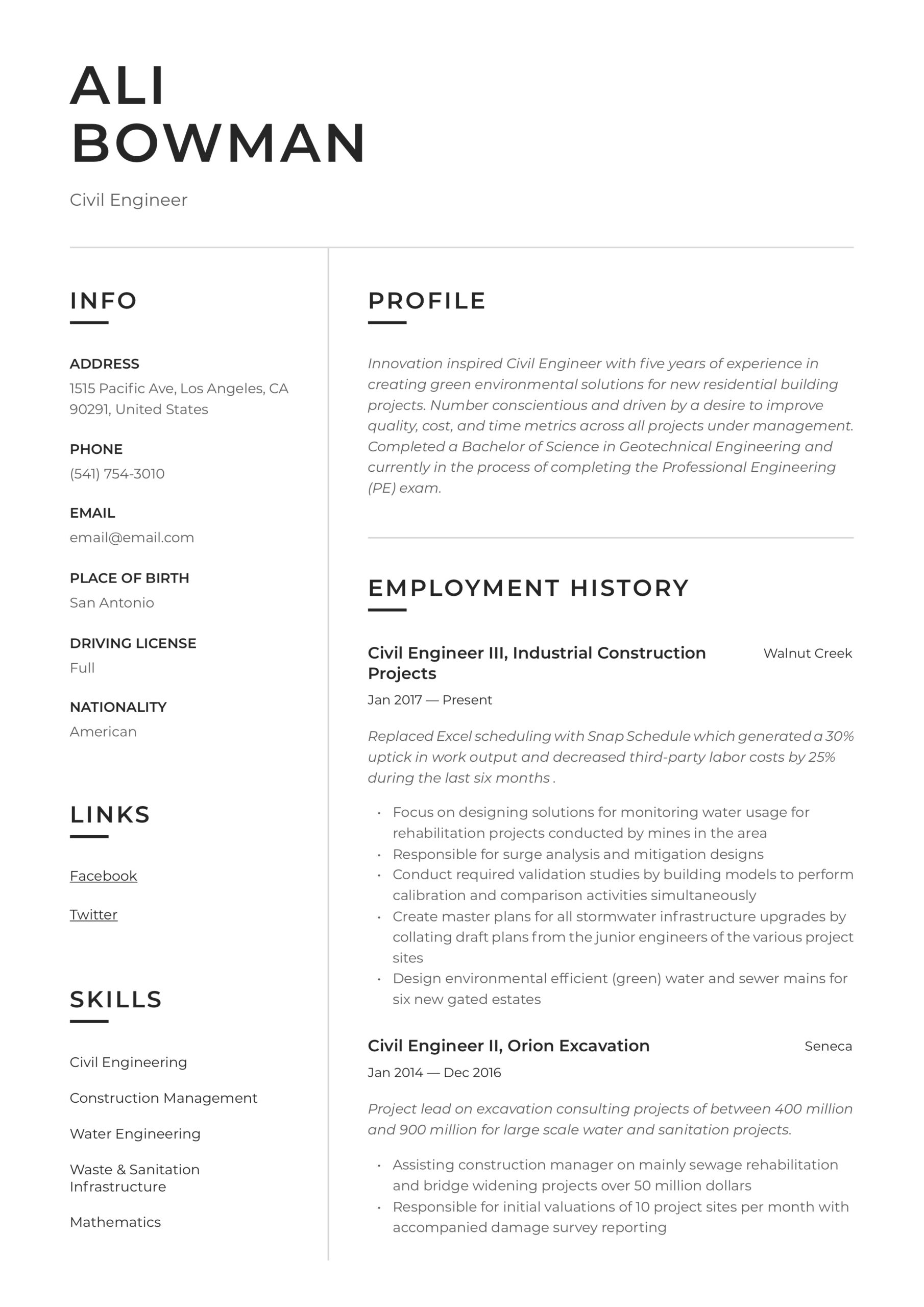 civil engineer resume writing guide templates estimation objective for coaching examples Resume Estimation Engineer Resume