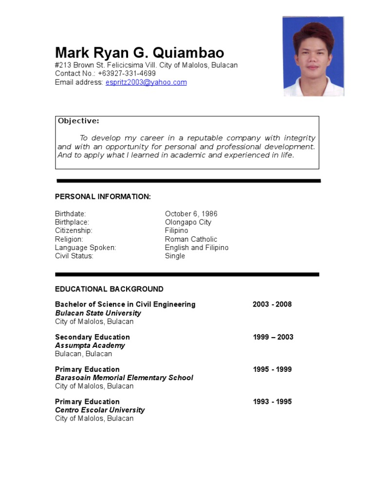 civil engineering student resume examples best sample for ojt electrical students design Resume Sample Resume For Ojt Electrical Engineering Students