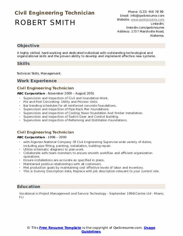 civil engineering technician resume samples qwikresume objective for pdf designated Resume Objective For Resume Civil Engineering
