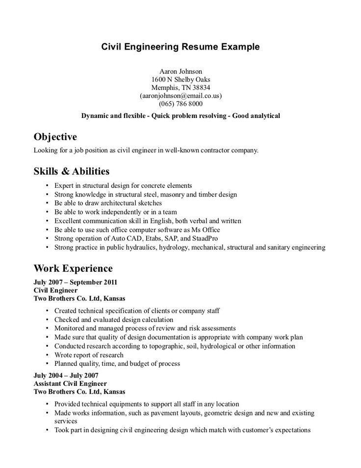 civil structural engineer resume sample best examples objective for engineering music Resume Objective For Resume Civil Engineering