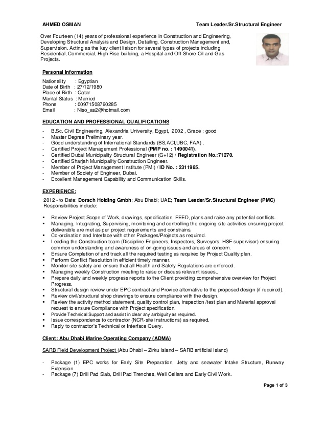 civil structural engineer resume templatedose designer team leader cv cleaner job Resume Civil Structural Designer Resume