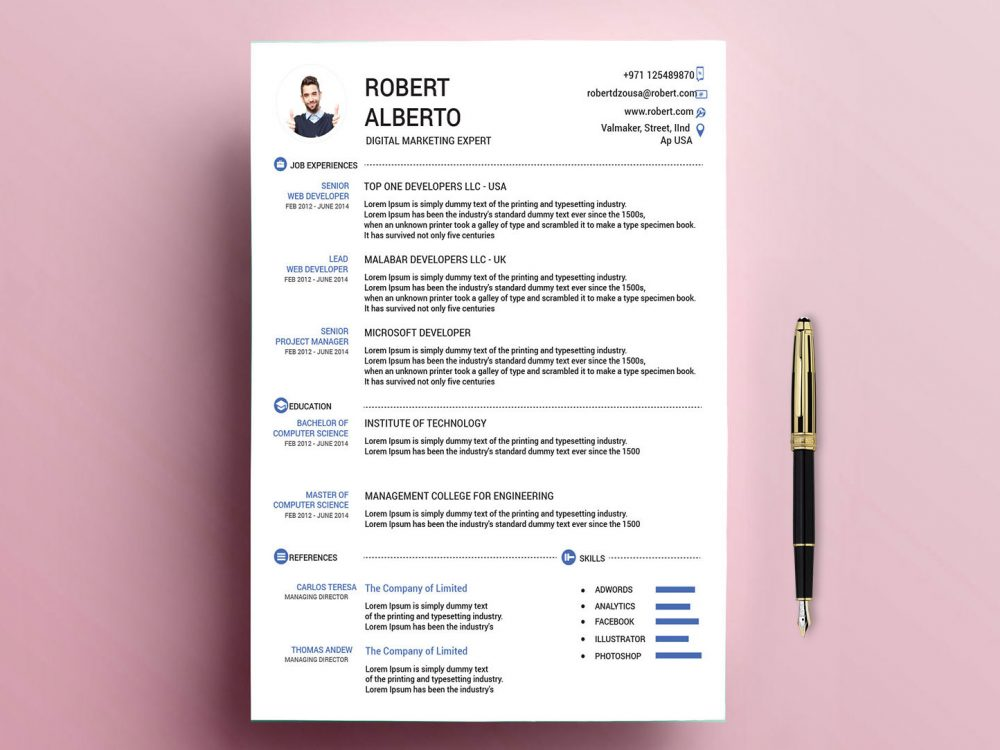classic resume template free with formats resumekraft attractive templates 1000x750 Resume Attractive Resume Templates Free Download