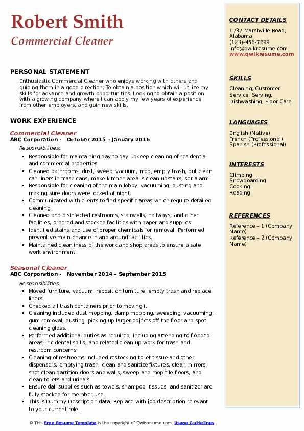 cleaner resume samples qwikresume construction pdf google templates trending format Resume Construction Cleaner Resume