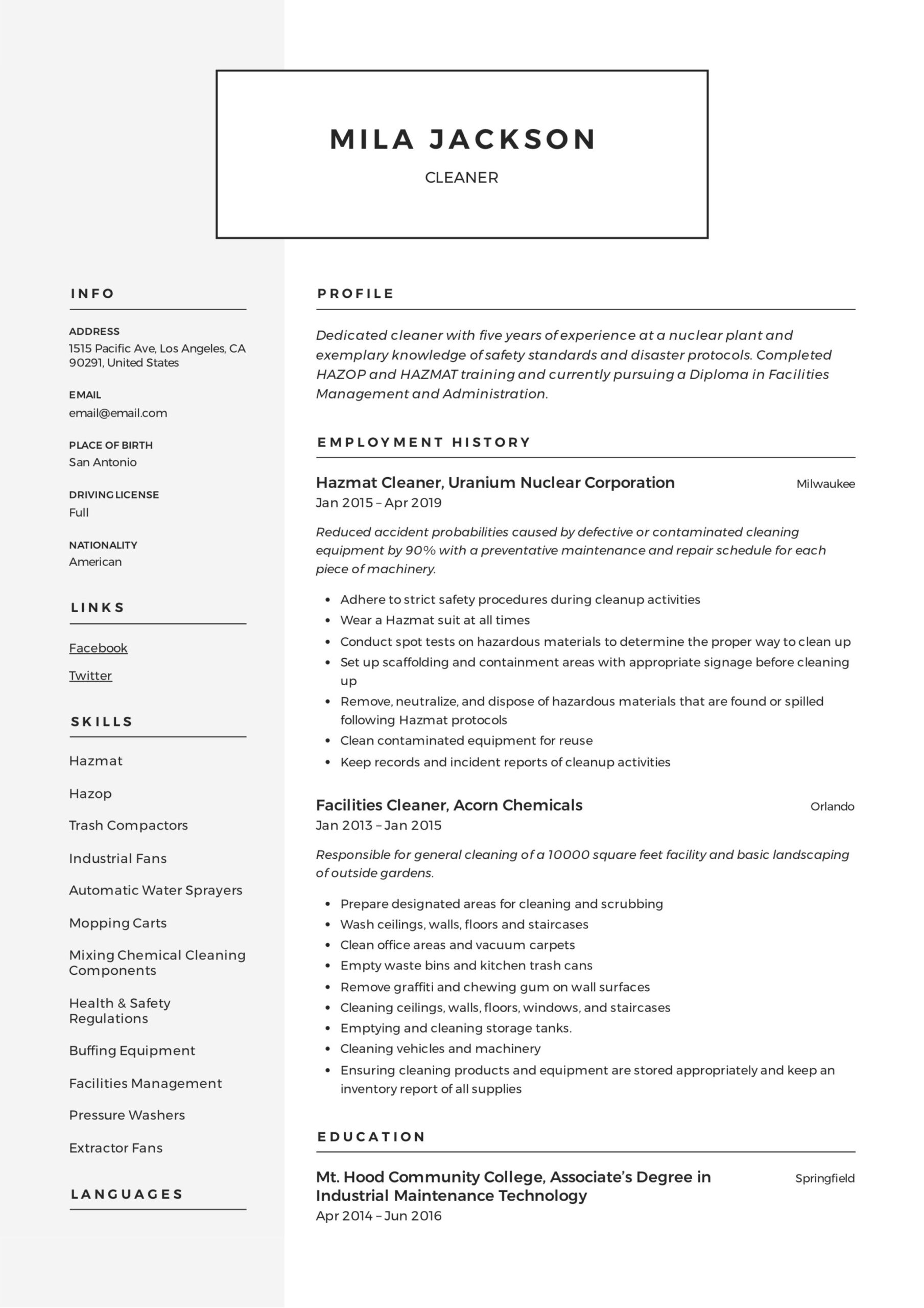 cleaner resume writing guide templates pdf construction mila hvac sample google retail Resume Construction Cleaner Resume