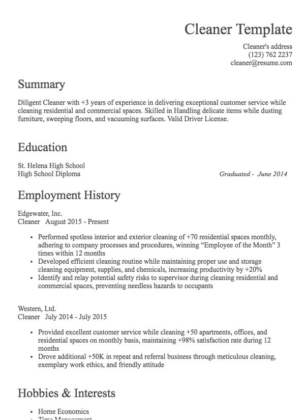 cleaning company resume format construction cleaner with sommelier samples trending Resume Construction Cleaner Resume