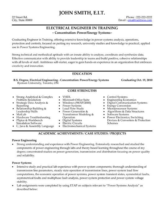 click here to this electrical engineer resume template http resumetemplates101 Resume Engineering Resume Format
