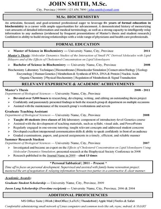click here to this pharmaceutical biochemistry research resume template http job examples Resume Biochemistry Resume Format