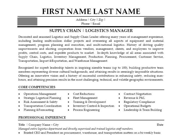 click here to this supply chain manager resume template http resumetemplates101 inde Resume Supply Chain Logistics Resume