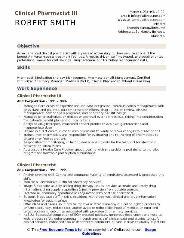clinical pharmacist resume samples qwikresume objective pdf bank financial service Resume Clinical Pharmacist Resume Objective