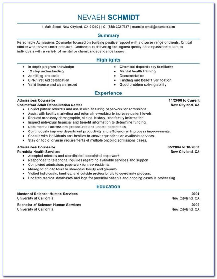 college admission counselor objective resume vincegray2014 internet licensed health Resume Admission Counselor Resume